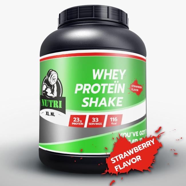 NutriXL Whey Proteïne - Aardbeien Smaak