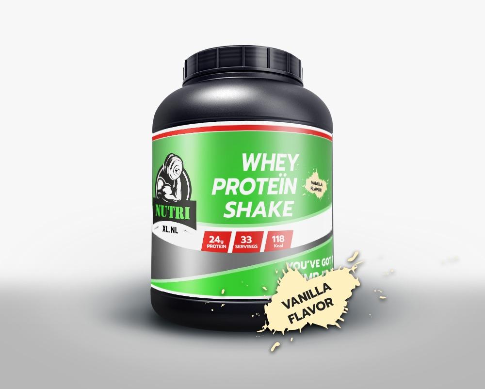 Whey Protein Vanilla smaak NutriXL.nl